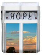 Faith  Hope Love Nature Window View Duvet Cover