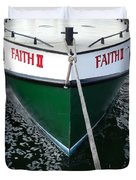 Faith II Fishing Boat Duvet Cover