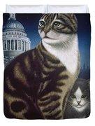 Faith, The St. Paul's Cat Duvet Cover