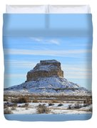 Fajada Butte In Snow Duvet Cover