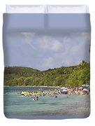 Fajardo Beach In  Puerto Rico Duvet Cover
