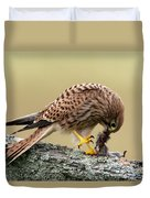 Falcon's Breakfast  Duvet Cover