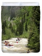 White Water Rafting On The Animas Duvet Cover