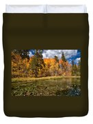 Fall Along Bishop Creek Duvet Cover by Cat Connor