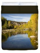 Fall Along River Sierra Ancha Duvet Cover