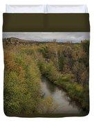 Fall Along The Creek Duvet Cover