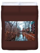 Fall Along The Delaware Canal Duvet Cover
