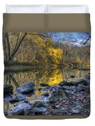 Fall Along The Scenic River Duvet Cover