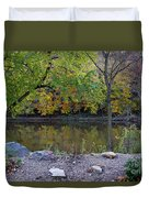 Fall Along The Scioto River Duvet Cover
