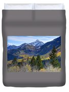 Fall At Cascade Peak And Sundance From Alpine Loop  Duvet Cover