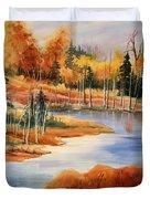 Fall At Elk Island  Duvet Cover