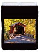 Fall At Kurtzs Mill Covered Bridge Duvet Cover