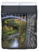 Fall At Mill Creek Park Duvet Cover