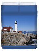 Fall At The Lighthouse Duvet Cover