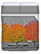Fall At The Mann Duvet Cover