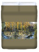 Fall At The River Duvet Cover