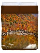 Fall Brilliance At New River Duvet Cover