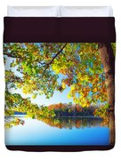 Fall By The Lake Duvet Cover