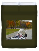 Fall Carriage Ride Duvet Cover