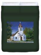 Fall Church Duvet Cover