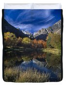 Fall Color And Reflection Below Middle Palisades Glacier California Duvet Cover