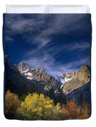 Fall Color Below Middle Palisades Glacier Eastern Sierras California Duvet Cover