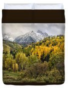 Fall Color In The Rockies Near Ouray Dsc07913 Duvet Cover