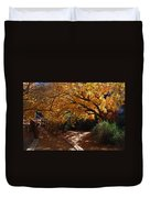 Fall Color Path Duvet Cover