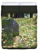 Fall Color Rocks Duvet Cover