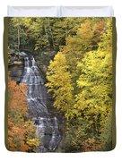 Fall Color Surrounds Chapel Falls On The Michigan Upper Peninsula Duvet Cover
