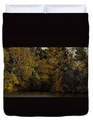 Fall Color Trees V9 Pano Duvet Cover