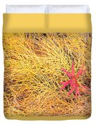 Fall Colored Horsetail And Fireweed  Duvet Cover