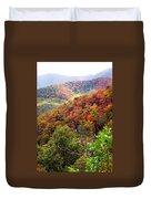 Fall Colors Along The Blueridge Duvet Cover