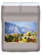 Fall Colors Along The Flatirons Duvet Cover