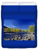 Fall Colors Along The Naches River Duvet Cover