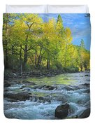 Fall Colors And The Little Salmon River Duvet Cover