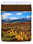 Fall Colors In Ridgway Colorado Duvet Cover