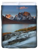 Fall Colors In Tasermiut Fiord Duvet Cover