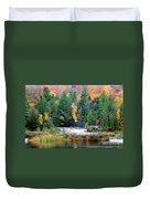Fall Colors On The  Tahquamenon River   Duvet Cover