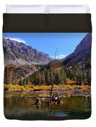 Fall Colours Reflection Duvet Cover