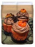 Fall Cupcakes Duvet Cover