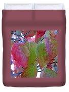 Fall Dogwood Leaf Colors 1 Duvet Cover