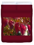 Fall Dogwood Leaves Duvet Cover