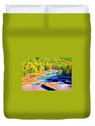 Fall Drought @ Ashokan Duvet Cover