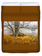 Fall Ferns And Fog Duvet Cover