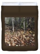 Fall Ferns Duvet Cover