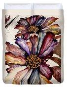 Fall Flower Colors  Duvet Cover