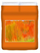 Fall Foliage Abstract Duvet Cover