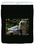 Fall Foliage And Fowl Duvet Cover