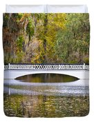 Fall Footbridge Duvet Cover